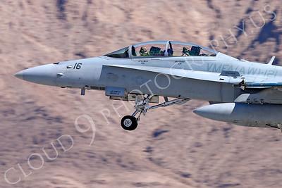 CUNMJ 00322 McDonnell Douglas F-18D Hornet USMC VMFA(AW)-121 Nellis AFB by Carl E Porter