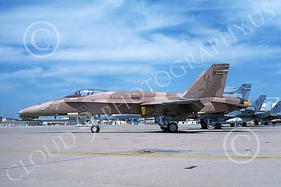 F-18USMC 00189 A static McDonnell Douglas F-18 Hornet USMC 162451 VMFA-134 MCAS El Toro 4-1996, by Michael Grove, Sr