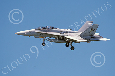 F-18USMC 00164 A landing McDonnell Douglas F-18D Hornet USMC 163110 VMFAT-101 SHARPSHOOTERS 4-2002 military airplane picture by Michael Grove, Sr