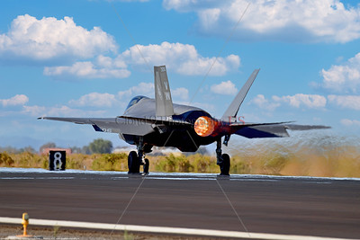 F-35C-USMC-VMFA-314 0010 A Lockheed-Martin F-35C Lightning II USMC stealth jet fighter VMFA-314 BLACK KNIGHTS VM tail code taking off in afterburner at NAS Fallon 9-2021, military airplane picture by Peter J  Mancus 852_0644  T