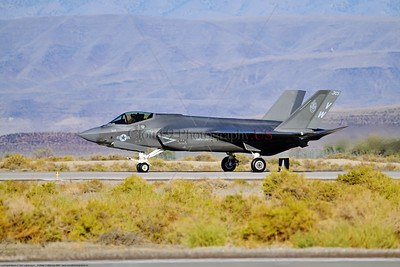 F-35C-USMC-VMFA-314 0001 A Lockheed-Martin F-35C Lightning II USMC stealth jet fighter VMFA-314 BLACK KNIGHTS VW tail code rolling out at NAS Fallon 9-2021, military airplane picture by Peter J  Mancus  852_1772  T