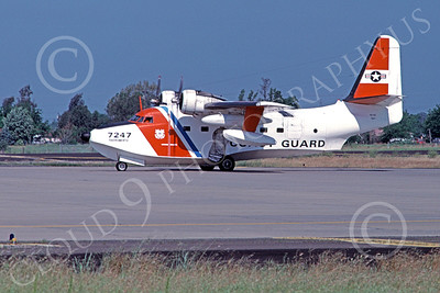 HU-16USCG 00023 A taxing Grumman HU-16E Albatross USCG Sacramento 5-1979 military airplane picture by Carl Porter