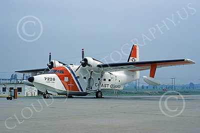 HU-16USCG 00005 A static Grumman HU-16E Albatross USCG Cape Cod 6-1973 military airplane picture by Ronald McNeil