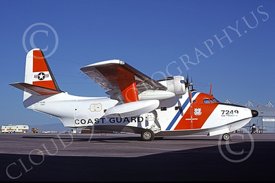 HU-16USCG 00015 A static Grumman HU-16E Albatross USCG San Francisco 5-1978 military airplane picture by Peter B Lewis