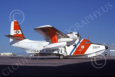 HU-16USCG 00015 A static Grumman HU-16E Albatross USCG San Francisco 5-1978 military airplane picture by Peter B Lewis