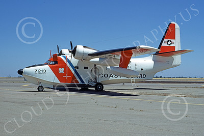 HU-16USCG 00025 A static Grumman HU-16E Albatross USCG San Francisco 5-1979 military airplane picture by Carl Porter