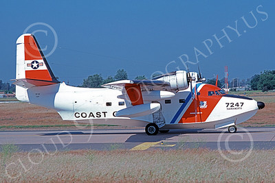 HU-16USCG 00021 A taxing Grumman HU-16E Albatross USCG Sacramento 5-1979 military airplane picture by Carl Porter