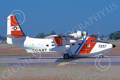HU-16USCG 00021 A taxing Grumman HU-16E Albatross USCG Sacramento 5-1979 military airplane picture by Carl Porter