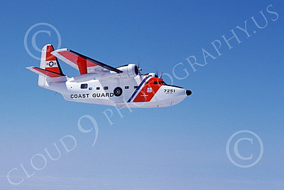 HU-16USCG 00004 A flying Grumman HU-16E Albatross USCG Cape Cod 8-1978 military airplane picture by John Collins