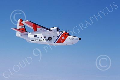 HU-16USCG 00004 A flying Grumman HU-16E Albatross USCG Cape Cod 8-1978 military airplane picture by John Collins