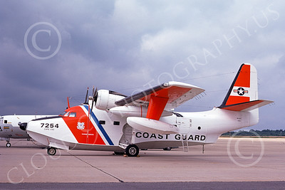 HU-16USCG 00007 A static Grumman HU-16E Albatross USCG Cape Cod 8-1974 military airplane picture by Ronald McNeil
