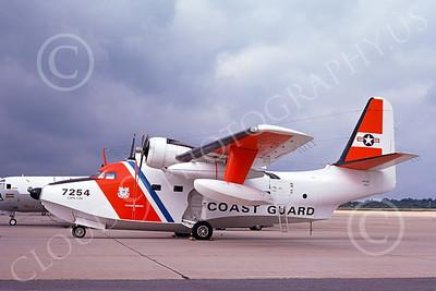 HU-16USCG 00007 A static Grumman HU-16E Albatross USCG Cape Cod 8-1974 military airplane picture by Ronald McNeil