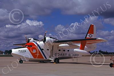 HU-16USCG 00017 A static Grumman HU-16E Albatross USCG Sacramento 3-1979 military airplane picture by Carl Porter