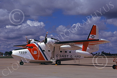 HU-16USCG 00017 A static Grumman HU-16E Albatross USCG Sacramento 3-1979 military airplane picture by Carl Porter
