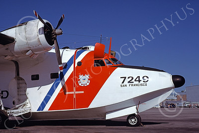 HU-16USCG 00019 Close up of the nose of a static Grumman HU-16E Albatross USCG San Francisco 5-1978 military airplane picture by Carl Porter