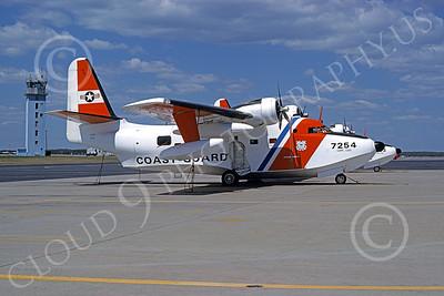 HU-16USCG 00011 A static Grumman HU-16E Albatross USCG Cape Cod 5-1978 military airplane picture by Ronald McNeil