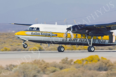 CUNMP 00003 Fokker F-27 Friendship US Army GOLDEN KNIGHTS Edwards AFB by Peter J Mancus