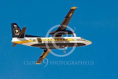 GoldK 00016 A flying Fokker C-31 Troopship US Army GOLDEN KNIGHTS Edwards AFB military airplane picture by Peter J Mancus