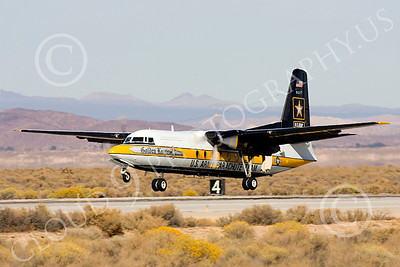 GoldK 00002 A Fokker C-31 Troopship US Army GOLDEN KNIGHTS lands at Edwards ARB military airplane picture by Peter J Mancus