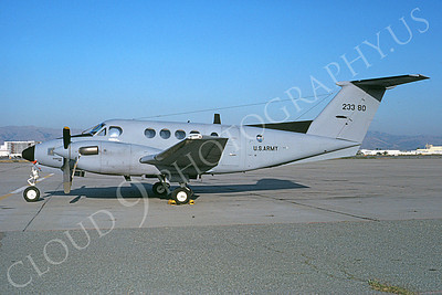 C-12USA 00005 A static Beech RC-12G US Army 23380 NAS Moffett 10-1982 airplane picture by Michael Grove, Sr