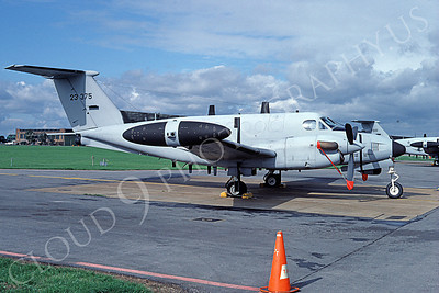 C-12USA 00001 A static Beech RC-12D US Army 23375 10-1994 airplane picture by Michael Grove, Sr