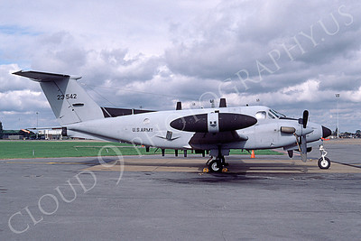 C-12USA 00003 A static Beech RC-12D US Army 23542 10-1984 airplane picture by Michael Grove, Sr