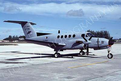 C-12NG 00001 A static Beech C-12D Alabama Army National Guard 23785 1-1986 airplane picture by Michael Grove, Sr