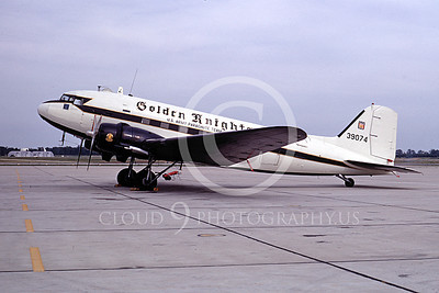 GoldK 00013 A static Douglas C-47 Skytrain US Army GOLDEN KNIGHTS 9-1968 military airplane picture by Frank MacSorley