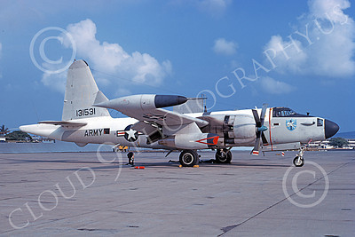 P-2USA 00002 A static Lockheed AP-2E Neptune US Army 131531 Norfolk 6-1969 military airplane picture by Frank MacSorley