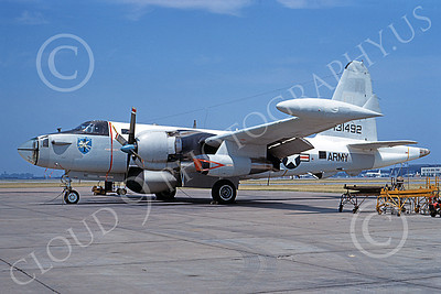 P-2USA 00001 A static Lockheed AP-2E Neptune US Army 131492 Norfolk 6-1969 military airplane picture by Frank MacSorley