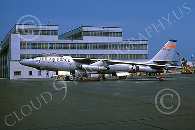 B-47USAF 00013 A static Boeing NRB-47E Stratojet USAF 515258 W-P AFB 6 Sept 1965 military airplane picture by Clay Jansson