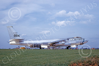 B-47USAF 00009 A static Boeing B-47E Stratojet USAF 31884 with JATO rockets 4-1964 military airplane picture by J M Friell
