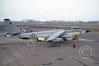 B-47USAF 00027 A static Boeing RB-47H Stratojet USAF 534296 F-111 nose test aircraft LAX 6-1973 airplane picture by Clay Jansson