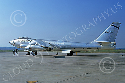 B-47USAF 00007 A static Boeing B-47E Stratojet USAF 52326 5-1965 military airplane picture by Clay Jansson