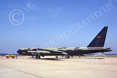 B-52 00121 A towed USAF Boeing B-52D Stratofortress jet bomber 550101 7-1968 military airplane picture by Peter B Lewis