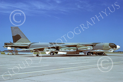 B-52 00103 A static USAF Boeing B-52H Stratofortress jet bomber 00035 8-1979, by Michael Grove, Sr