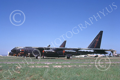 B-52 00131 A deactivated USAF Boeing B-52D Stratofortress jet bomber 50092 in storage D-M AFB 9-1983 military airplane picture by Michael Grove, Sr