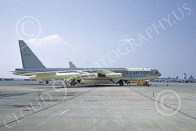 B-52 00095 A static bare metal USAF SAC Boeing B-52C Stratofortress jet bomber 530405, by Clay Jansson