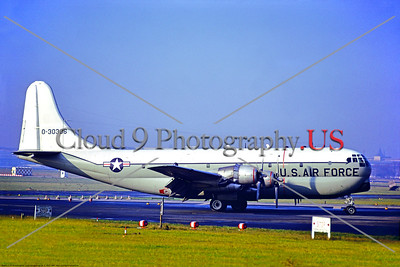 C-97USAF-Generic 001 A Boeing C97G Stratofreighter USAF 30306 7405 SS taxis at Templehof 11-1969 military airplane picture by Stephen W  D  Wolf     11A_3168     DoneWT