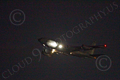 KC-135USAF 00052 Boeing KC-135 Stratotanker USAF at night by Peter J Mancus