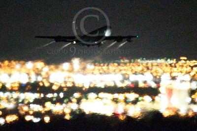 KC-135USAF 00032 Boeing KC-135 Stratotanker USAF at night by Peter J Mancus