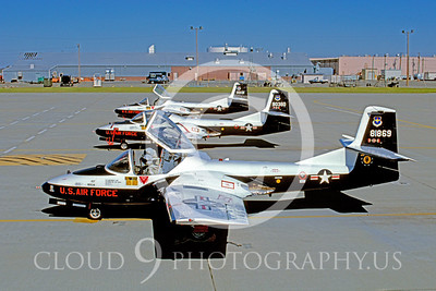 T-37USAF 00003 Cessna T-37 Tweety Bird Mather AFB Feb 1989 by Peter J Mancus