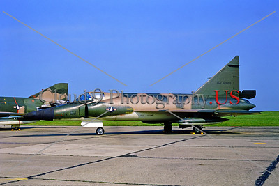 "F-102USAF-526th FIS 001 A static Convair F-102A Delta Dagger USAF 61202 Cold War era interceptor in camo assigned to the ""Black Knights"" 526 FIS at Ramstein AFB 6-1969, military aviation photography by Stephen W D Wolf          DONEwt 853_2848"