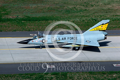 F-106-USAF 00001 Convair F-106A Delta Dart # 90042 5th FIS Spitten Kittens June 1983 by Carl E Porter