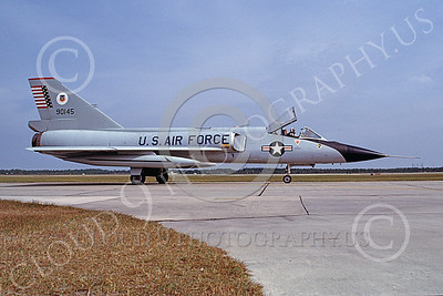 F-106AUSAF 00061 A taxing Convair F-106A Delta Dart USAF 90145 ADWC Air Defense Weapons Center Tyndall AFB 10-1982 military airplane picture by Carl E Porter
