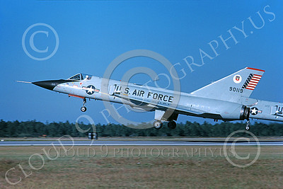 F-106AUSAF 00067 A taxing Convair F-106A Delta Dart USAF 590119 ADWC Air Defense Weapons Center Tyndall AFB 10-1980 military airplane picture by L B Sides