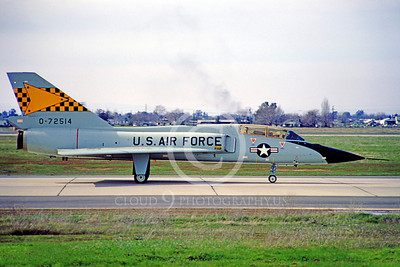 F-106BUSAF 00025 Convair F-106B Delta Dart USAF 72514 539th FIS McClellan AFB February 1967 by Peter B Lewis