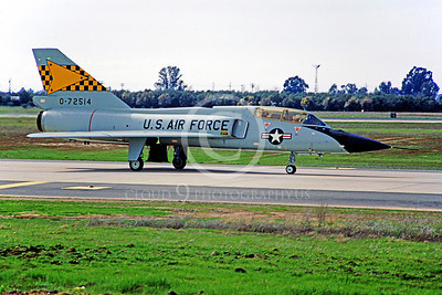 F-106BUSAF 00009 Convair F-106B Delta Dart USAF 72514 539th FIS McClellan AFB February 1967 by Peter B Lewis