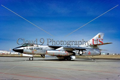 B-66 002 A static, clutter free, silver, Douglas USAF B-66 Destroyer Cold War era medium twin engine jet bomber, 0-4081, BB-488, 3-1963, military airplane picture by Clay Janson     Dt