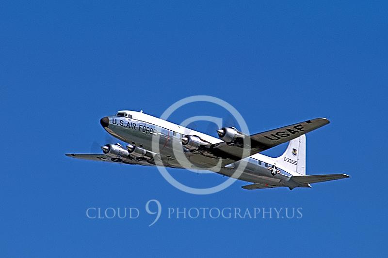 C-118-USAF 00002 Douglas C-118 Skymaster US Air Force McClellan AFB April 1971 by Peter J Mancus